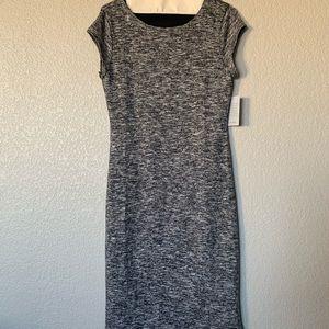 Velvet Torch marled form-fitting midi dress